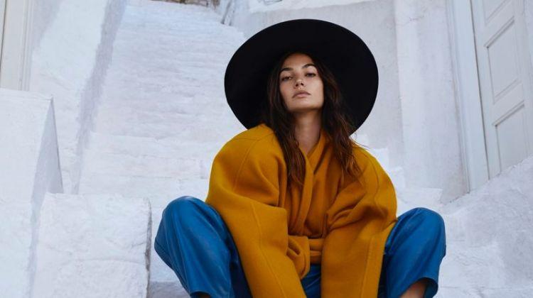 da5b80a267 Lily Aldridge Models Vacation Fashions for Harper s Bazaar Greece