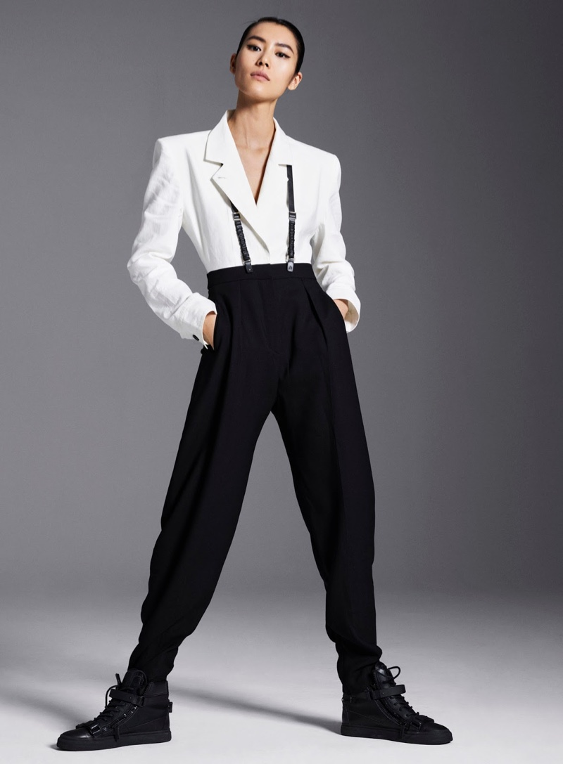 Liu Wen Takes On Menswear Inspired Looks for InStyle