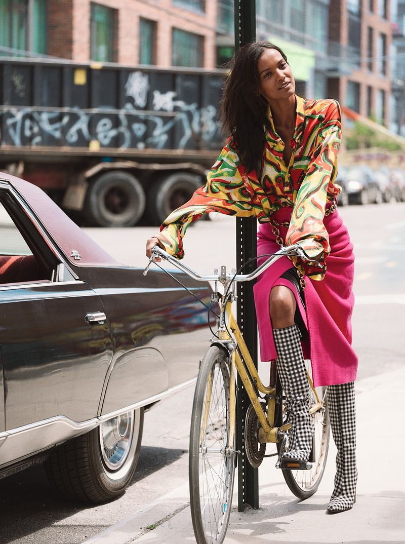 Liya Kebede Poses in Statement Looks for Sunday Times Style