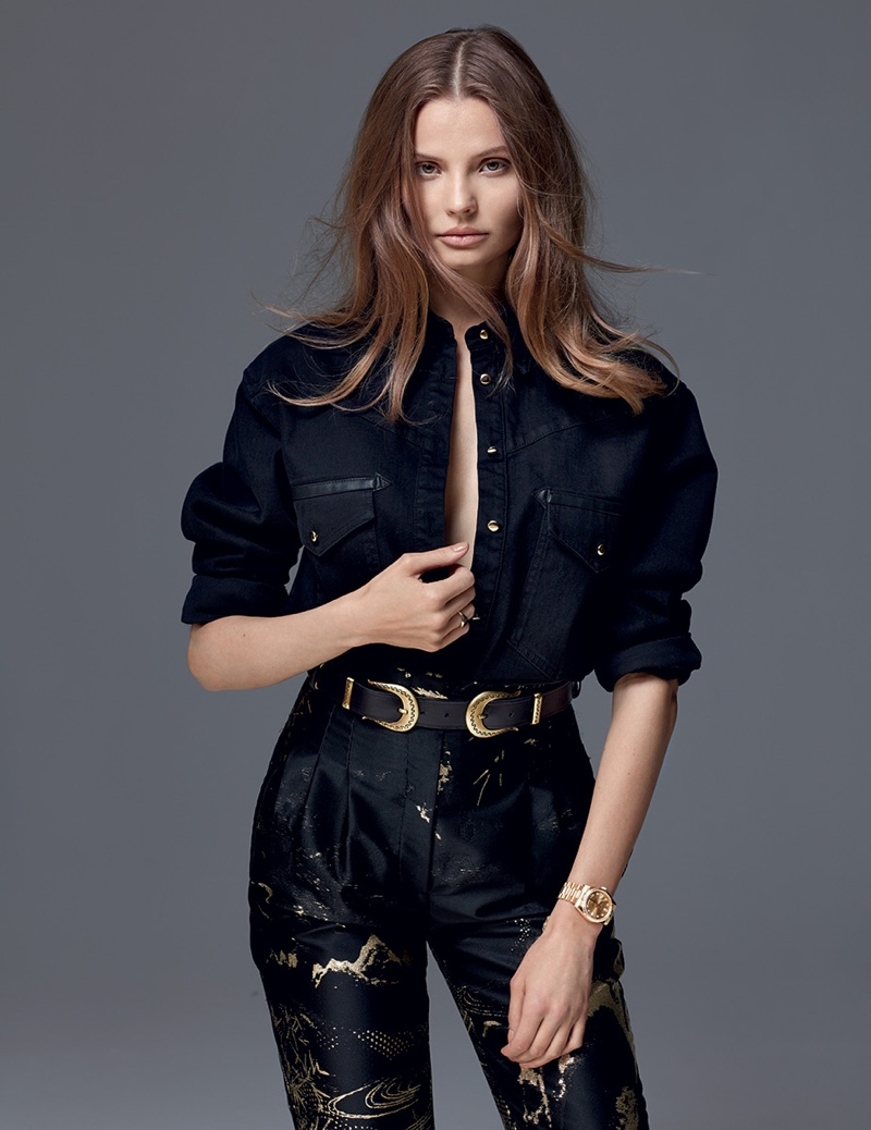 Magdalena Frackowiak Wears Sleek Fashions in D la Repubblica