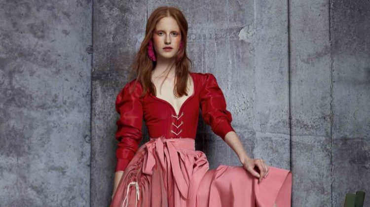 Magdalena Jasek Wears Rosy Fashions in How to Spend It