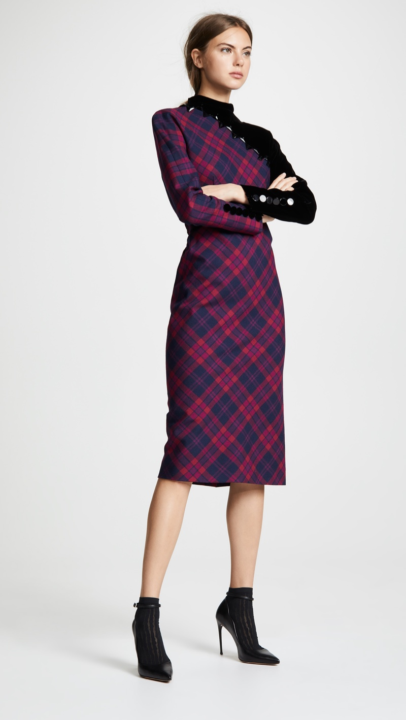 Marc Jacobs Embroidered Plaid Dress $1,800