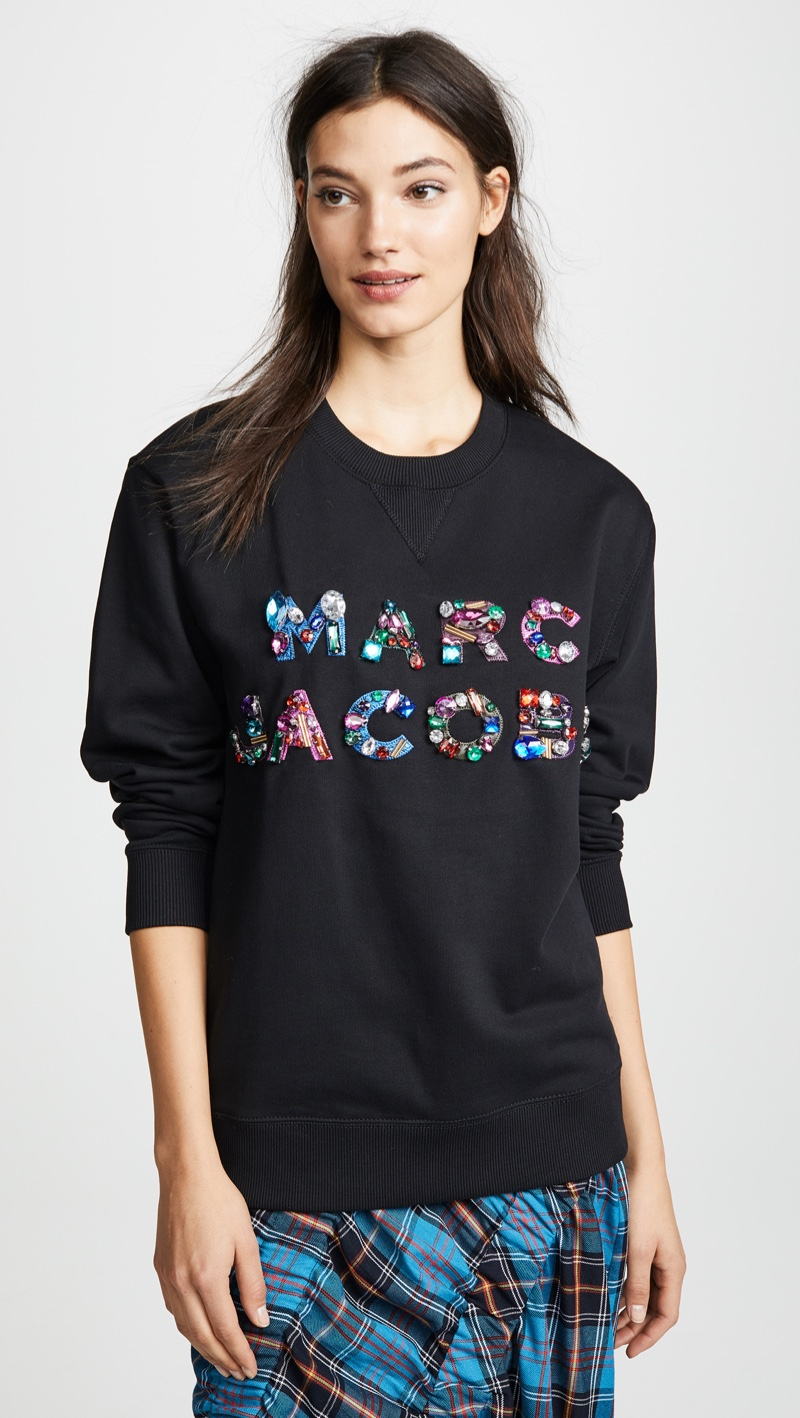 Marc Jacobs Lux Sweatshirt with Crystals $350