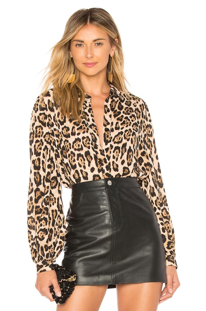 Marled x Olivia Culpo Leopard Print Button Down Shirt $78