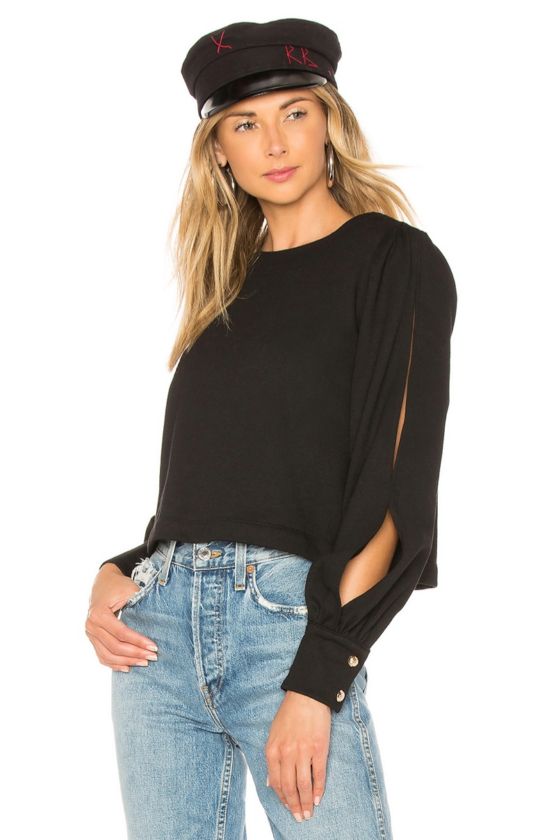 Marled x Olivia Culpo Cut Out Sleeve Sweatshirt $78