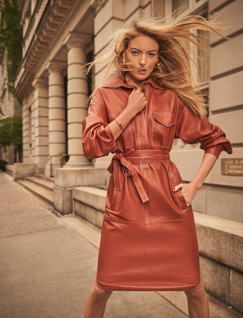 Martha Hunt Takes On Street Style for Harper's Bazaar Kazakhstan