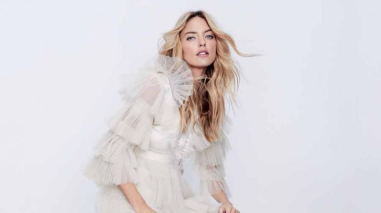 Martha Hunt Poses in the Prettiest Dresses for Hello! Fashion