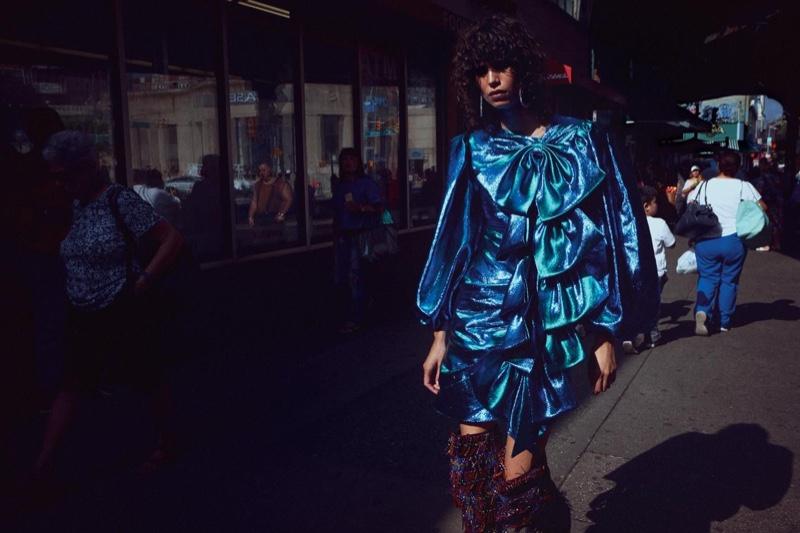 Mica Arganaraz Wears Bold Subway Style for WSJ. Magazine