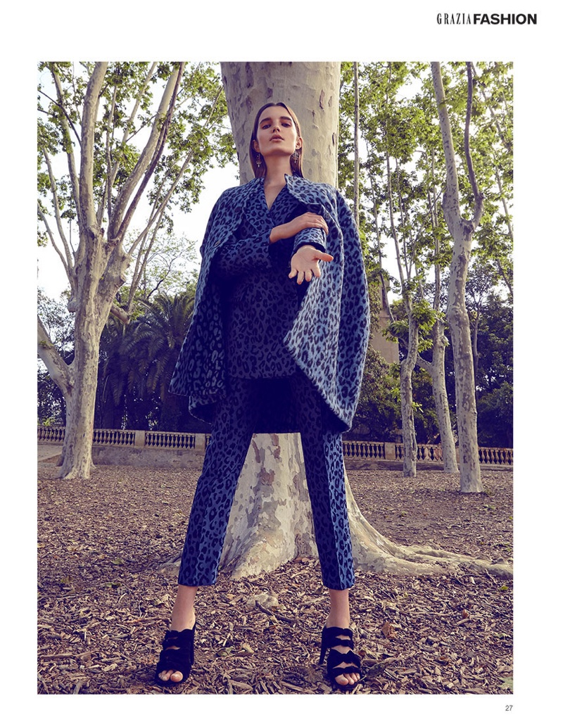 Michelle Van Bijnen Wears Late Summer Looks for Grazia Middle East