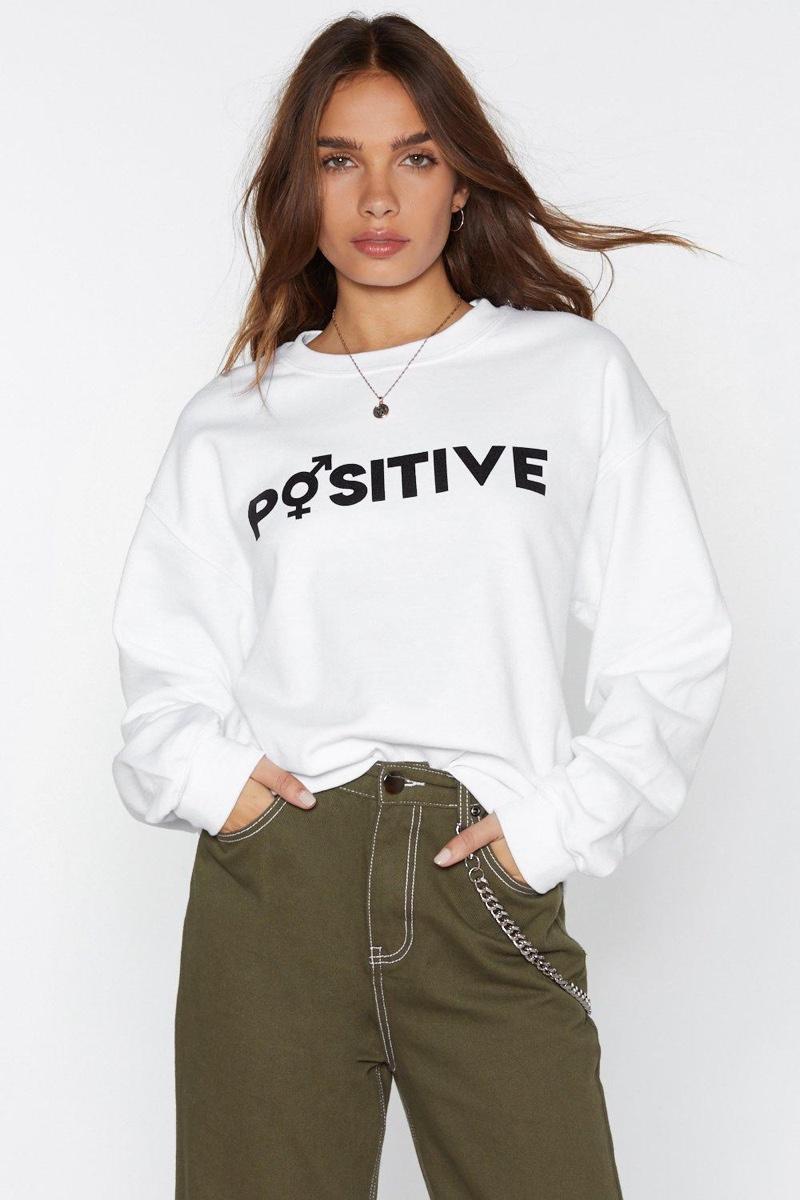 Nasty Gal x MTV Staying Alive Positive Sweatshirt $20