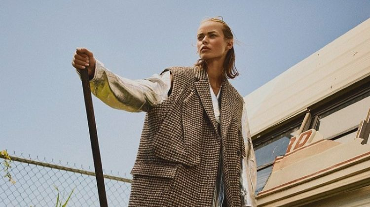 Birgit Kos Layers Up in Net-a-Porter Fall 2018 Campaign