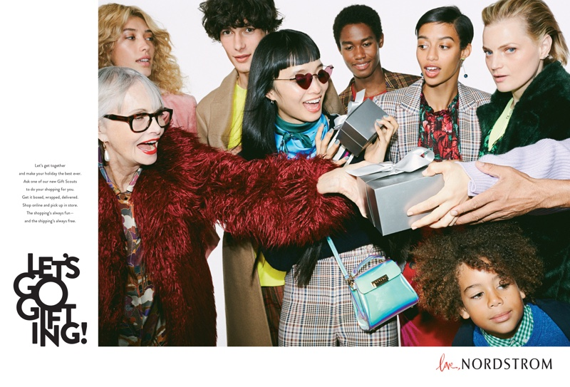 Nordstrom features its signature silver boxes in Holiday 2018 campaign