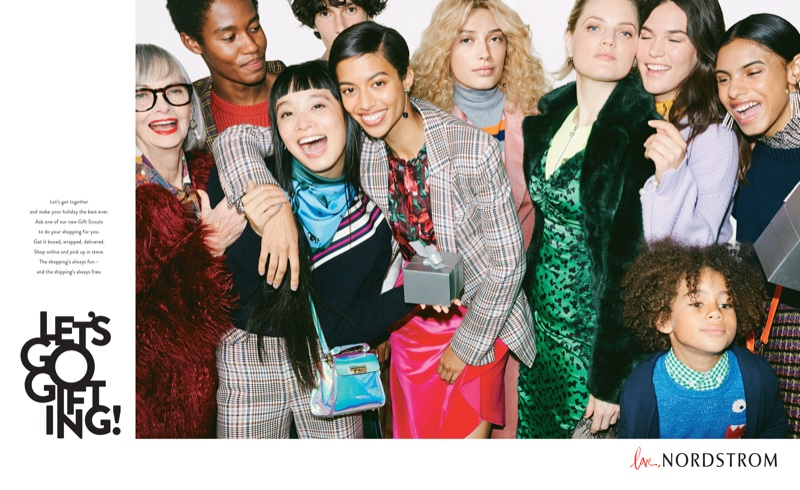 Nordstrom taps a diverse cast for its Holiday 2018 campaign