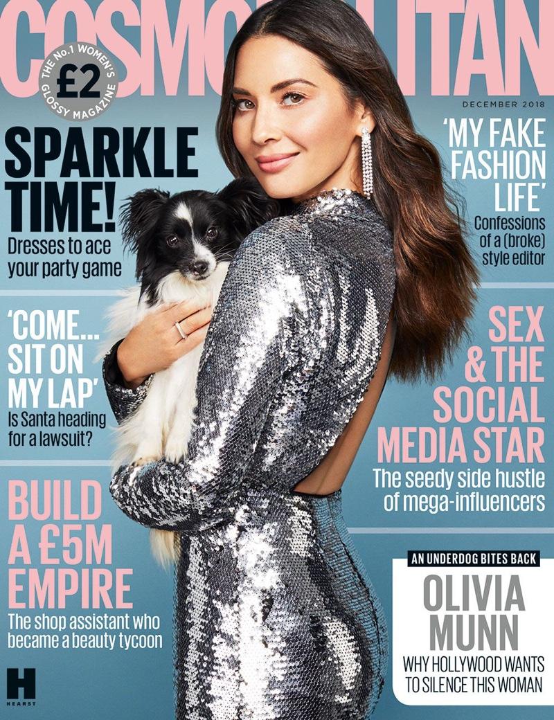 Olivia Munn on Cosmopolitan UK December 2018 Cover