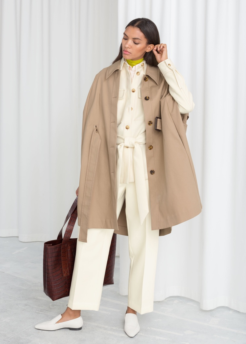 & Other Stories Belted Trench Cape $179