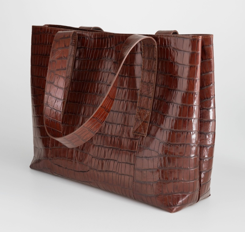 & Other Stories Crocodile Embossed Leather Tote Bag $249