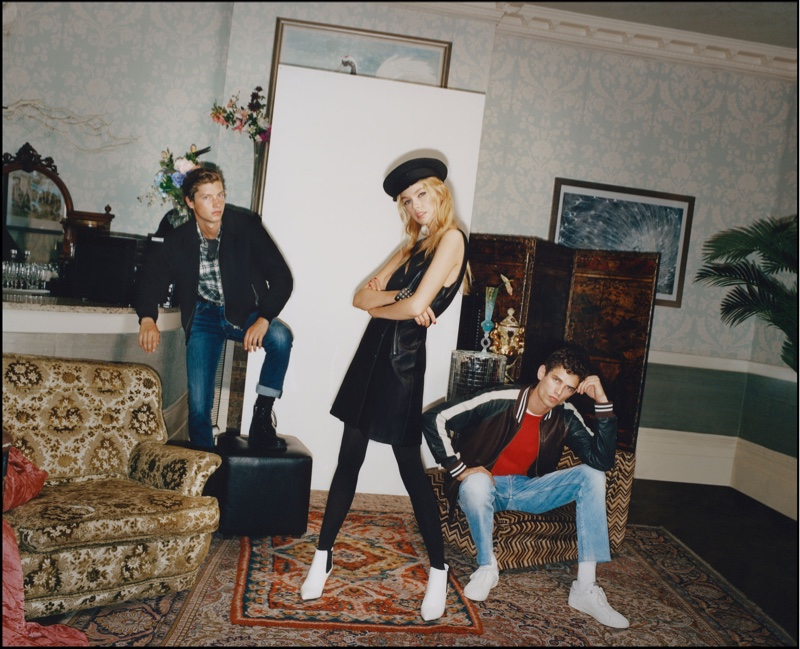 Jelle Honing, Stella Maxwell and Arthur Gosse star in Pepe Jeans fall-winter 2018 campaign