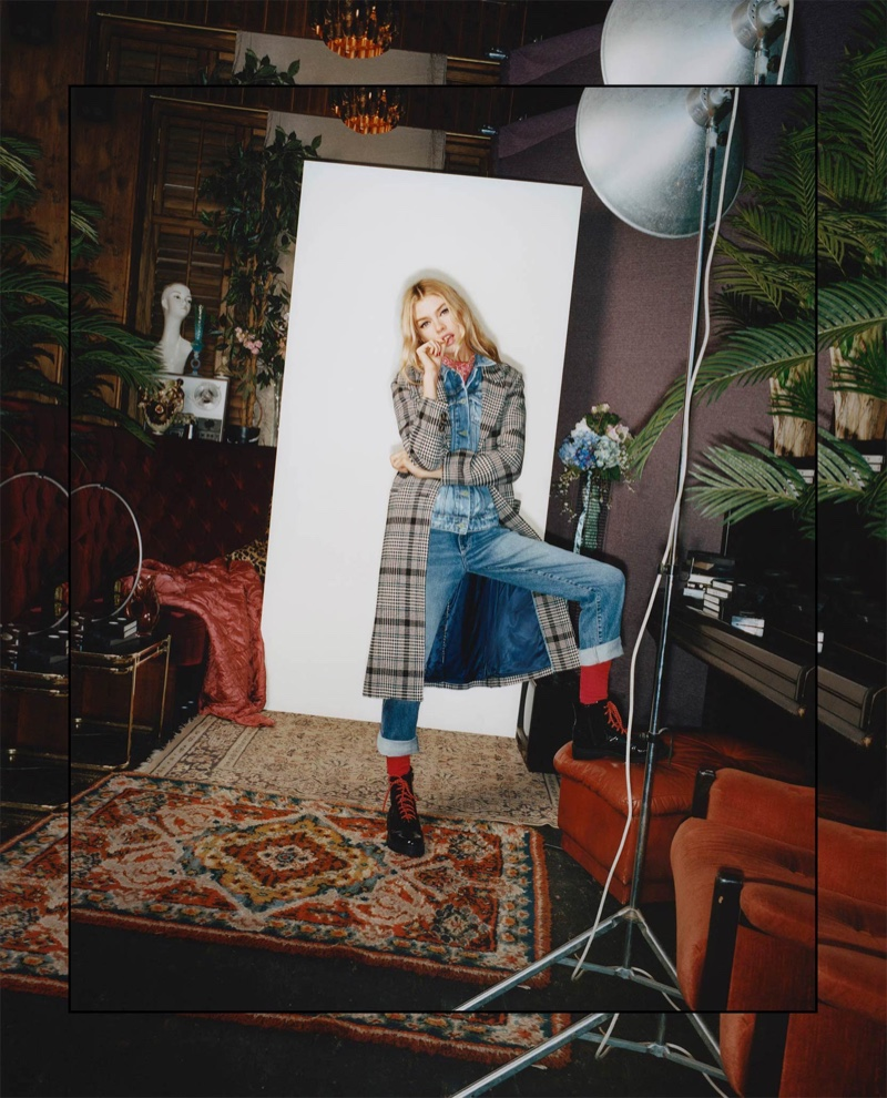 Stella Maxwell fronts Pepe Jeans fall-winter 2018 campaign