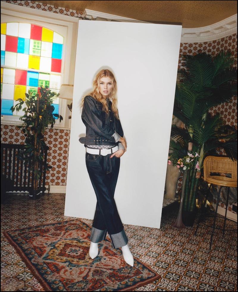 Stella Maxwell wears denim on denim for Pepe Jeans fall-winter 2018 campaign