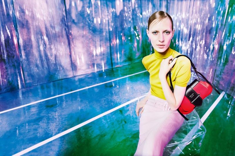 a897cc6f980d2 Julia Nobis fronts Prada resort 2019 campaign
