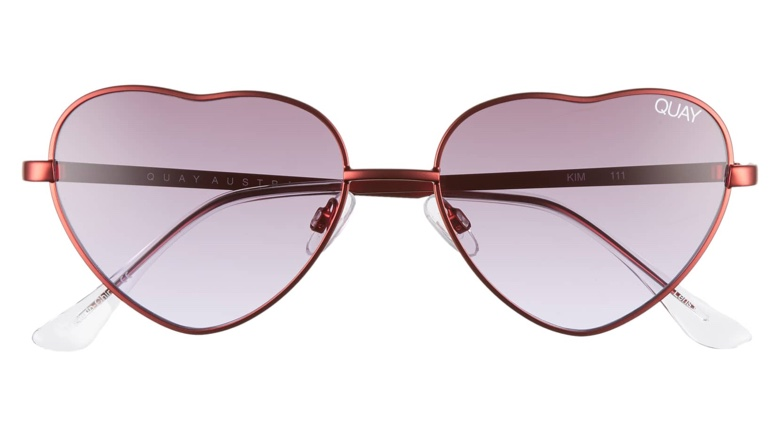 16f947f4e09 Quay Australia x Elle Ferguson Kim Heart Sunglasses in Red Purple Fade  60