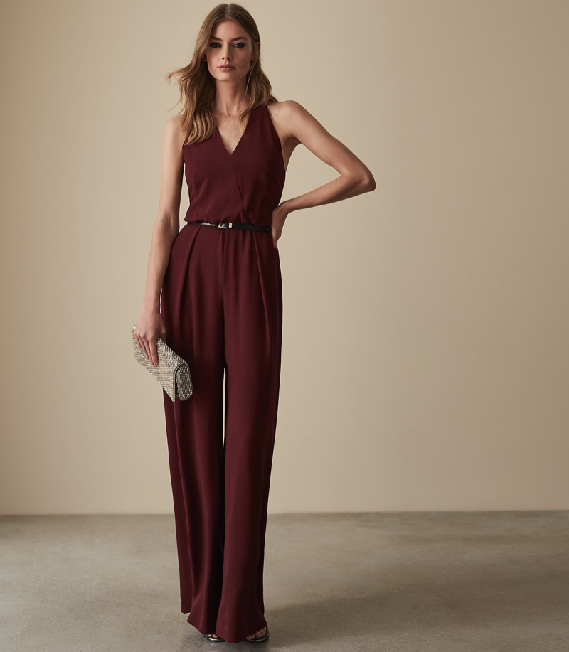 Reiss Kadie Beaded Strappy Jumpsuit $465
