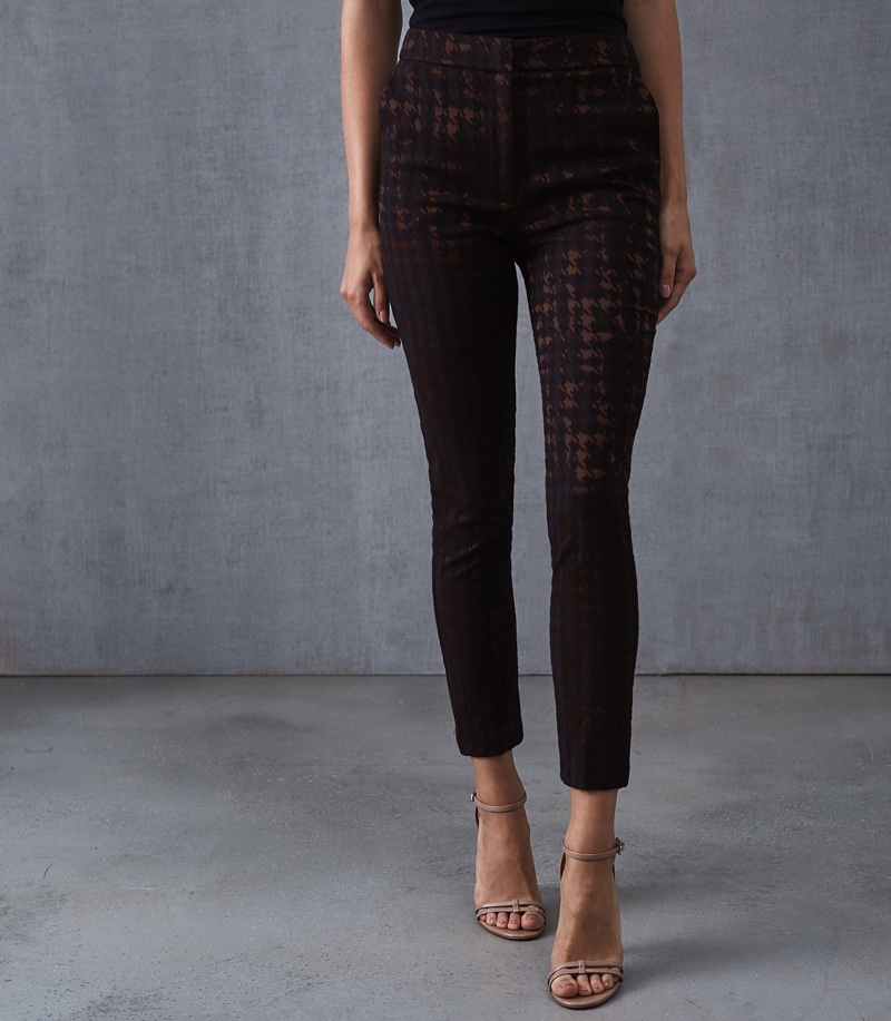 Reiss Laura Houndstooth Check Trousers $245