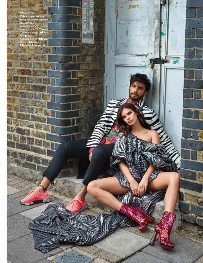 Sara Sampaio Poses in Statement Styles for Vogue India