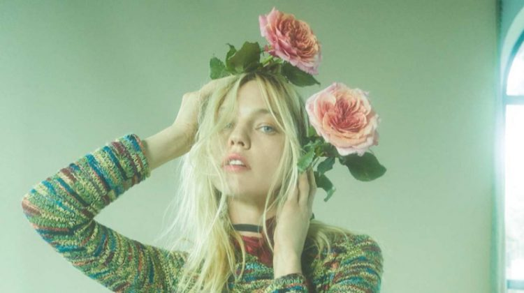Sasha Pivovarova is In Full Bloom for Vogue Russia