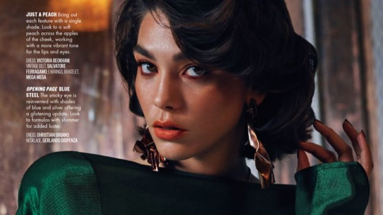 Steffy Argelich Poses in Glam Makeup Looks for Vogue Arabia