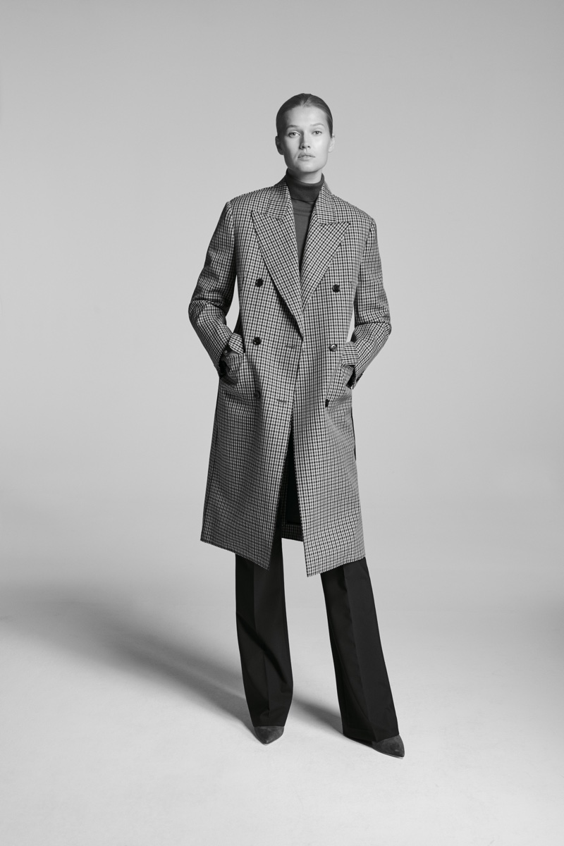 BOSS spotlights checkered coat in Made in Germany campaign