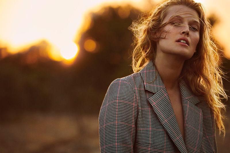 Toni Garrn Poses in Elegant Outerwear for ELLE Germany