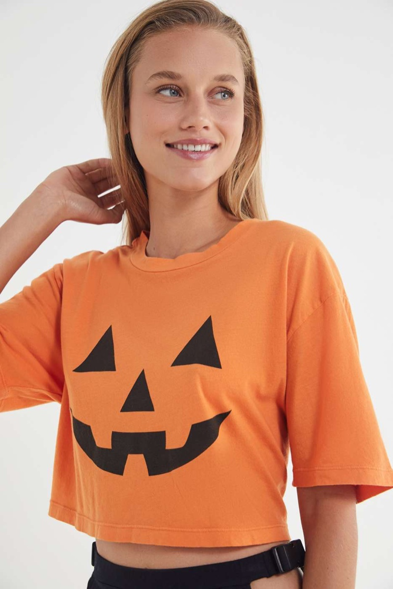 Truly Madly Deeply Pumpkin Cropped Tee $34.00
