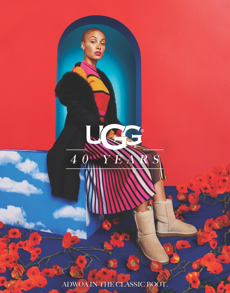 UGG taps Adwoa Aboah for its 40th anniversary campaign