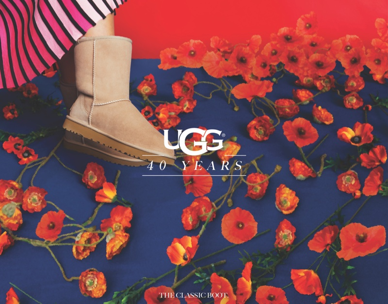 An image from the UGG 40th anniversary campaign