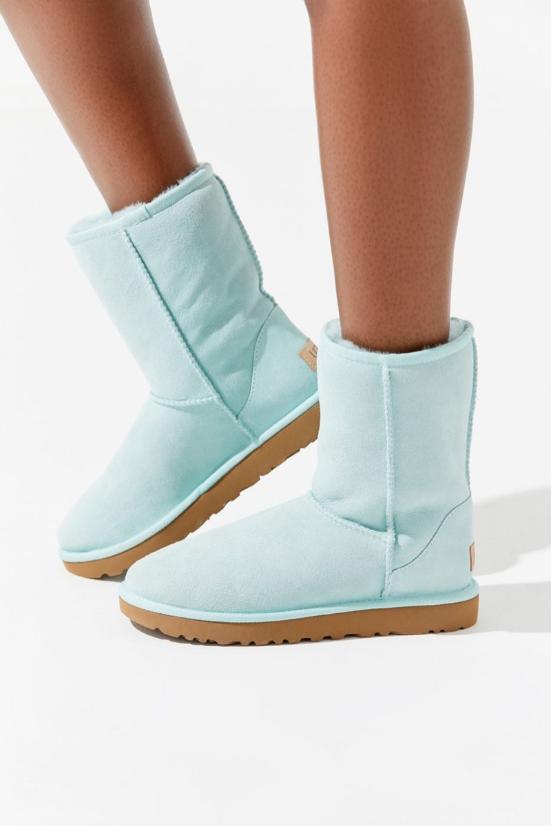 UGG Classic II Short Boot in Baby Blue $160