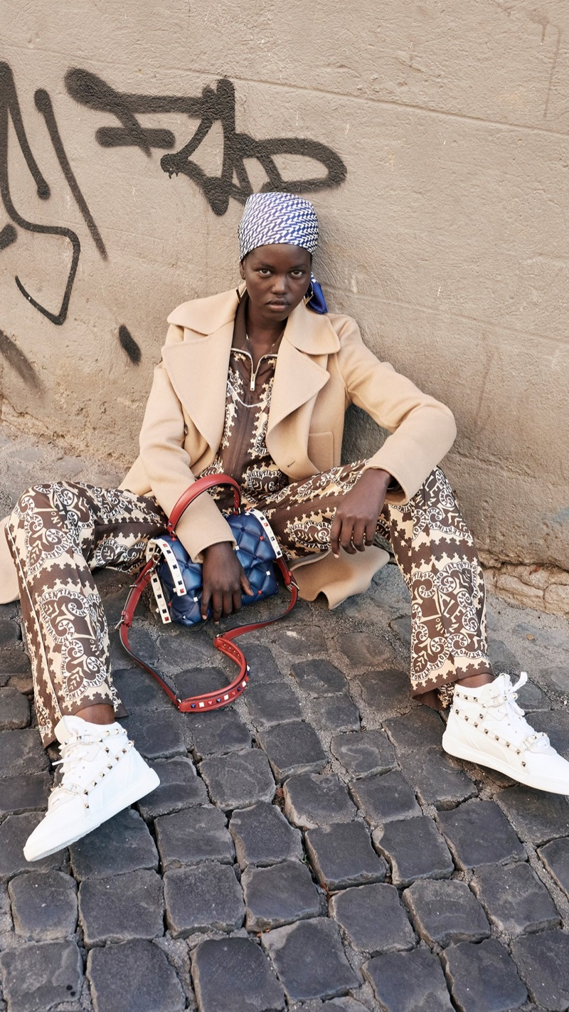 Adut Akech fronts Valentino resort 2019 campaign