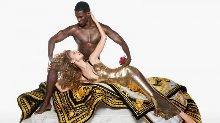 Gigi Hadid and Salomon Diaz star in Versace Eros Flame fragrance campaign