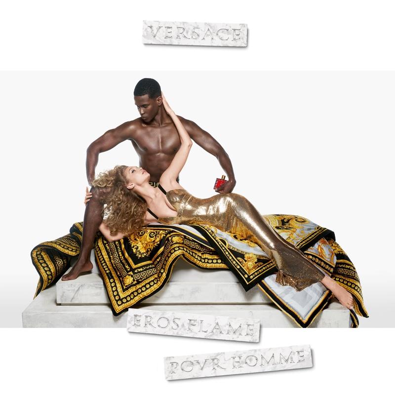 Gigi Hadid and Salomon Diaz star in Versace Eros Flame fragrance campaign