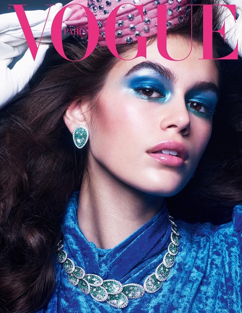 Kaia Gerber & Edie Campbell Model Precious Gems for Vogue Paris