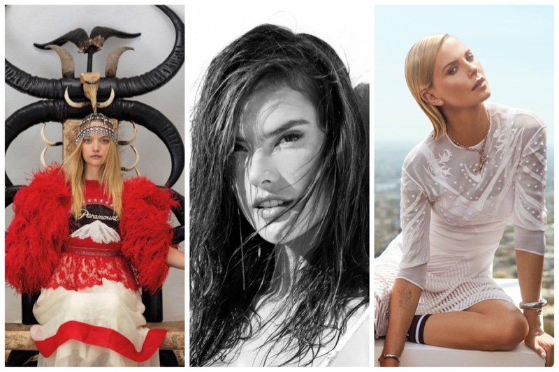 Week in Review | Gemma Ward's New Cover, Alessandra Ambrosio Models Lingerie, Charlize Theron for ELLE + More
