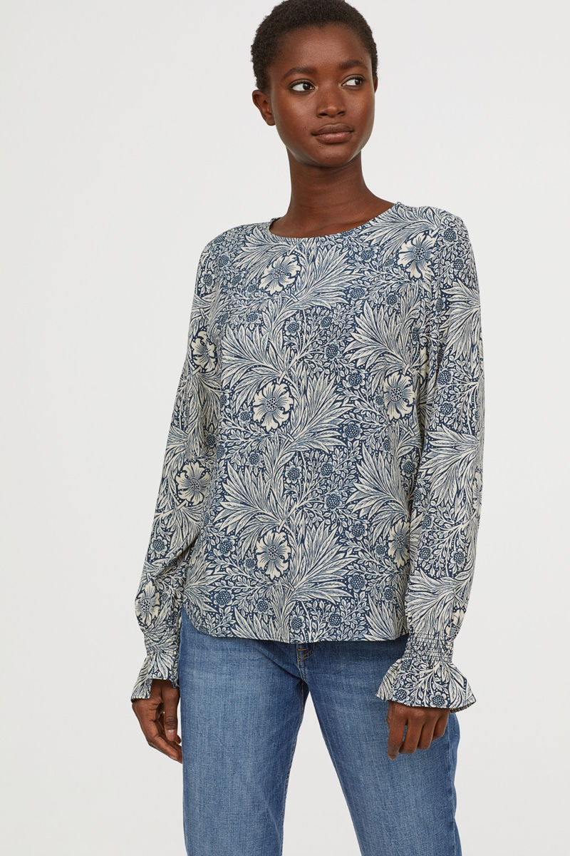 Morris & Co. x H&M Blouse with Smocking $24.99