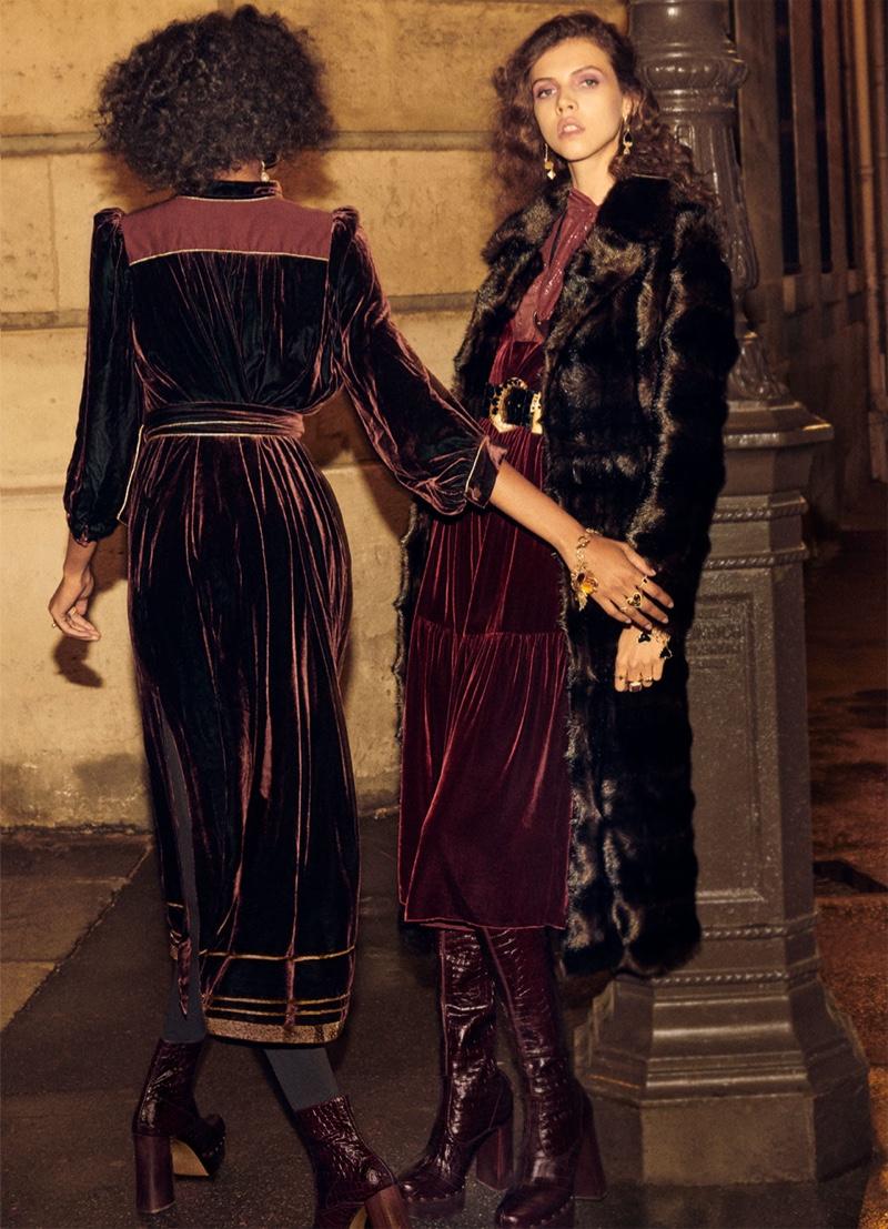 Zara Collection spotlights velvet dresses in fall-winter 2018 campaign