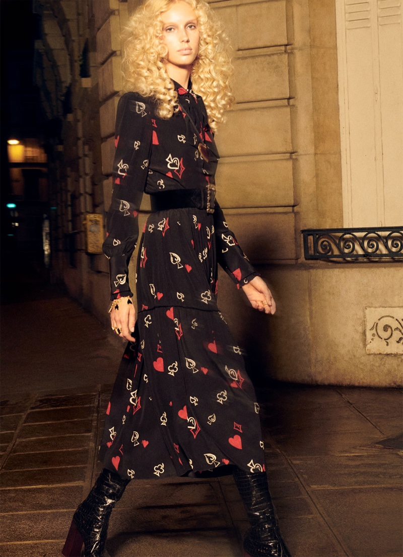 Jessie Bloemendaal appears in Zara Collection fall-winter 2018 campaign