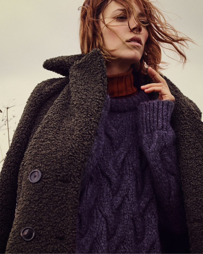 Freja Beha Erichsen stars in Zara Cozy Feeling fall-winter 2018 lookbook