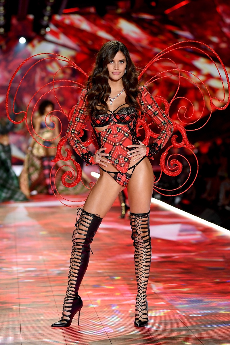 Sara Sampaio walks the 2018 Victoria's Secret Fashion Show in New York City.