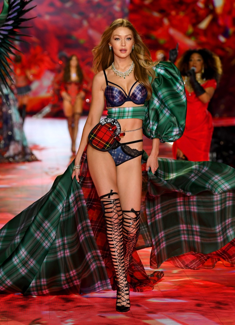 Gigi Hadid walks the 2018 Victoria's Secret Fashion Show in New York City. Photo: Dimitrios Kambouris/Getty Images for Victoria's Secret