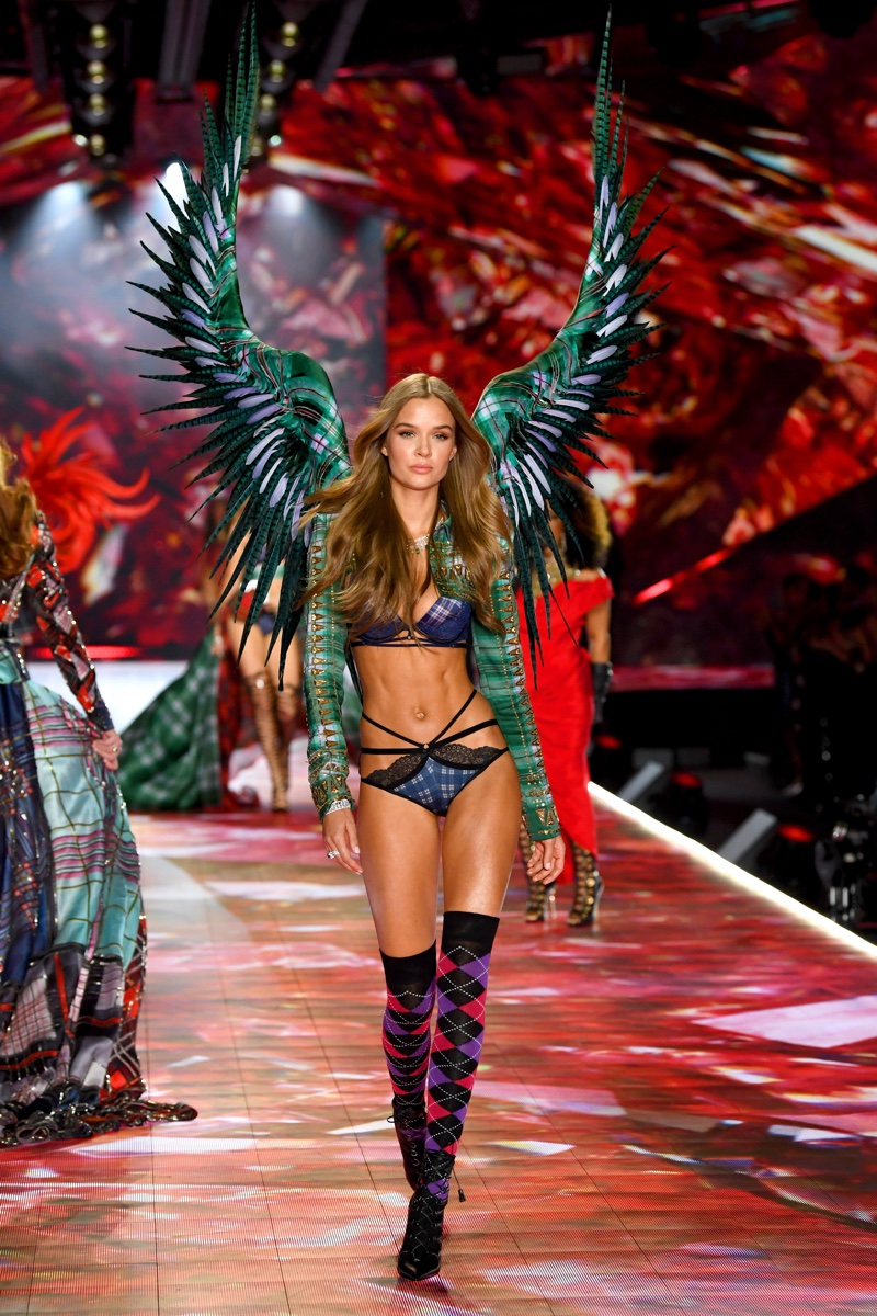 Josephine Skriver walks the 2018 Victoria's Secret Fashion Show in New York City. Photo: Dimitrios Kambouris/Getty Images for Victoria's Secret