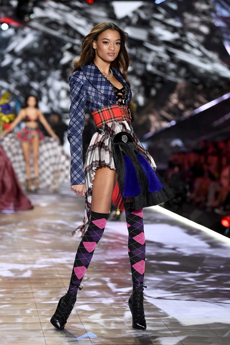 Lameka Fox walks the 2018 Victoria's Secret Fashion Show in New York City. Photo: Dimitrios Kambouris/Getty Images for Victoria's Secret