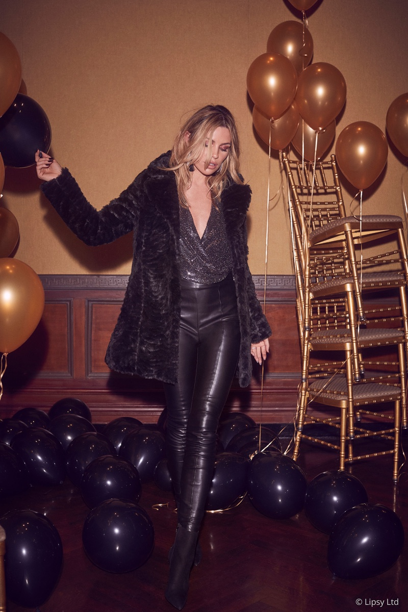 Abbey Clancy designs party-ready fashions with Lipsy London
